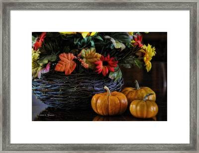 Pumpkin Still Life Framed Print by Kenny Francis