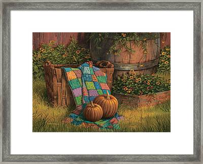 Pumpkins And Patches Framed Print