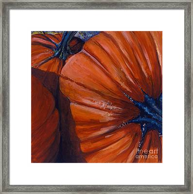 Pumpkins Framed Print by Betsee  Talavera