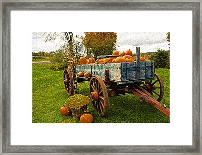 Framed Print featuring the photograph Pumpkins by Bill Howard