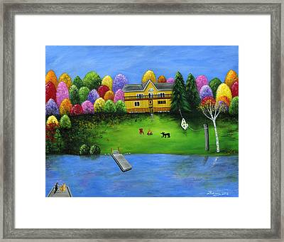 Pumpkin's Honeybear Cottage Framed Print by Brianna Mulvale