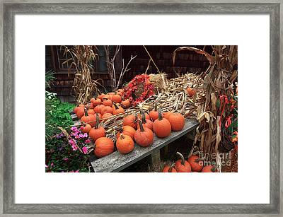 Pumpkins In The Wagon Framed Print by John Rizzuto