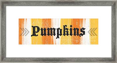Pumpkins Sign Framed Print