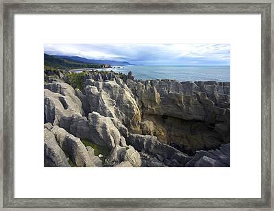 Punakaiki Pancake Rocks #2 Framed Print by Stuart Litoff