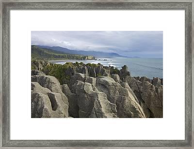 Punakaiki Pancake Rocks Framed Print by Stuart Litoff