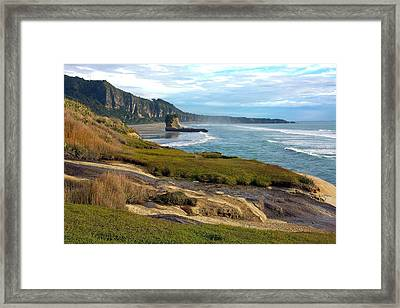 Framed Print featuring the photograph Punakaiki Truman Track by Stuart Litoff
