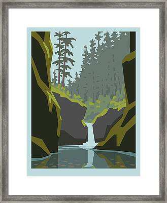 Punch Bowl Falls Framed Print by Mitch Frey