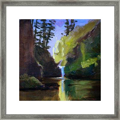Punch Bowl Falls Framed Print by Nancy Merkle