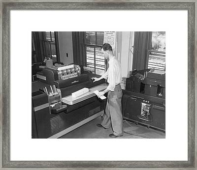 Punch Card Accounting Machines Framed Print by Underwood Archives