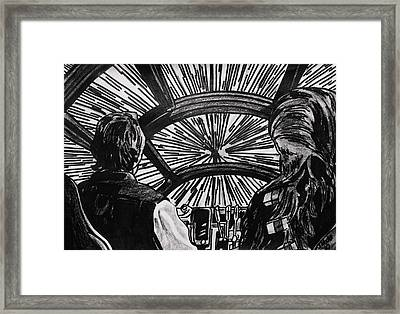 Punch It Framed Print