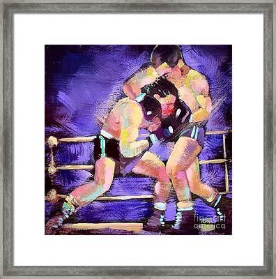 Framed Print featuring the painting Punch Out by Robert Phelps