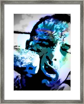 Punch To The Face Framed Print by Mj  Stone