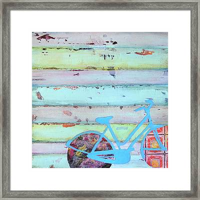 Punctured Bicycle Framed Print by Danny Phillips