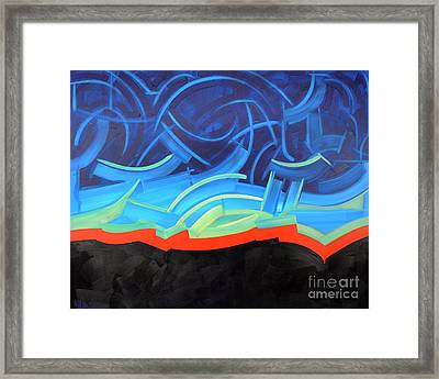 Puncturing Daybreak Framed Print by Michael Ciccotello