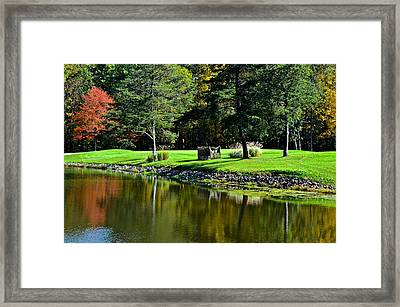 Punderson Golf Course Framed Print by Frozen in Time Fine Art Photography