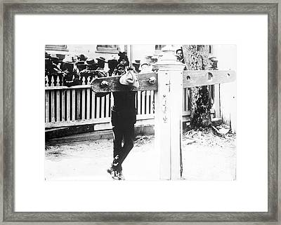 Punishment By Pillory, Historical Image Framed Print by Library Of Congress