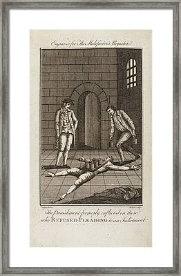 Punishment For Refusing To Plead Guilty Framed Print