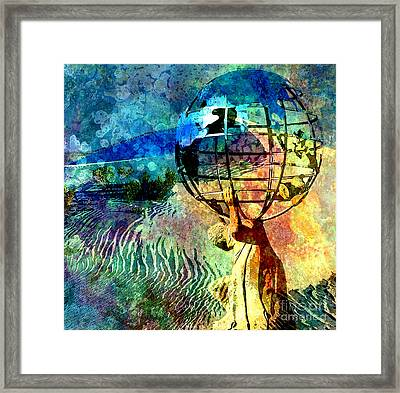 Punishment Of Atlas Framed Print by Tammera Malicki-Wong