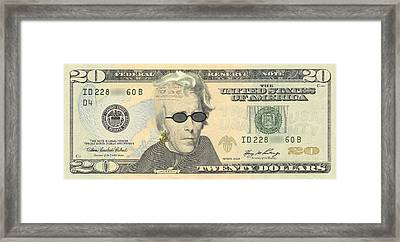 Punk 20 Dollar Bill Framed Print