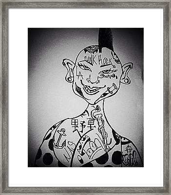 Punk Rock Babe Framed Print