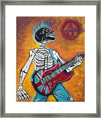 Punks Not Dead Framed Print by Laura Barbosa