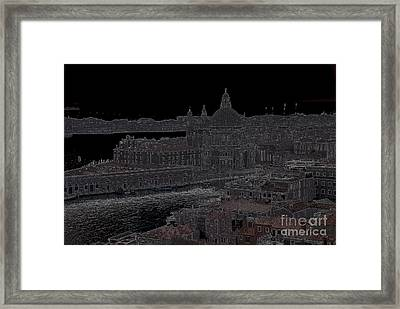 Punta Dellla Dogana Panorama Drawing Framed Print by Jacqueline M Lewis
