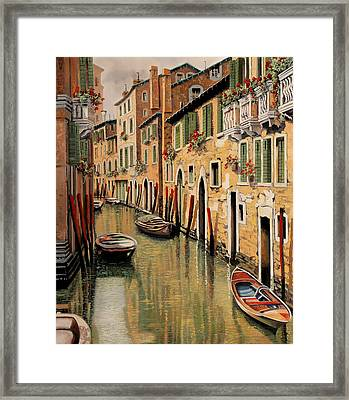 Punte Rosse A Venezia Framed Print by Guido Borelli