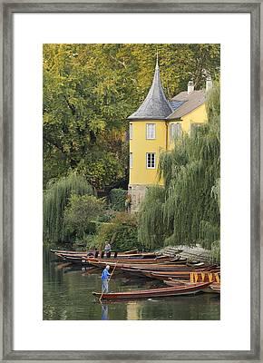 Punts In Lovely Tuebingen Germany Framed Print