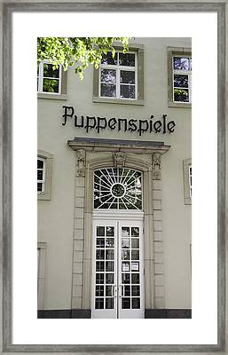 Puppenspiele Theatre Cologne Germany Framed Print by Teresa Mucha