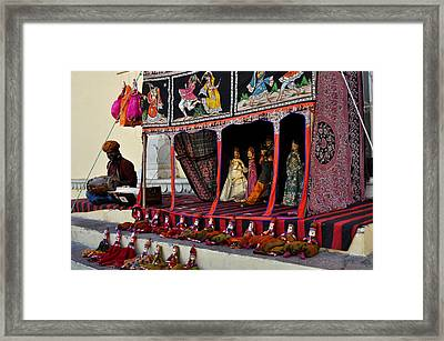 Puppet Show City Palace Jaipur India Framed Print by Diane Lent