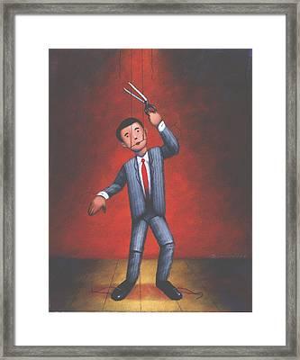 Puppet Framed Print by Steve Dininno