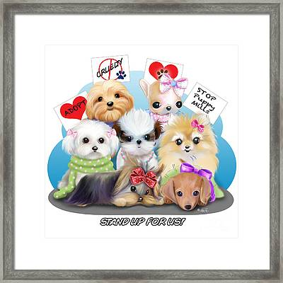 Puppies Manifesto Framed Print by Catia Cho