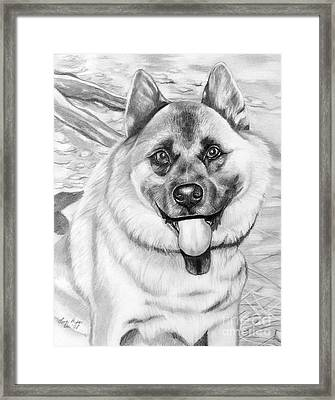 Puppy Is His Name Framed Print