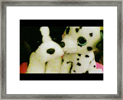 Puppy Kisses Framed Print by Katie Weed