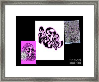 Puppy Love Collage Framed Print by Kristina Skiba