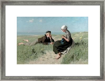 Puppy Love Framed Print by David Adolph Constant Artz