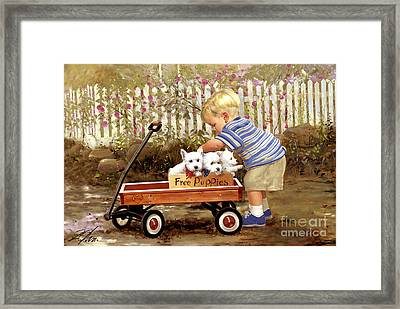 Puppy Love Framed Print by Donald Zolan