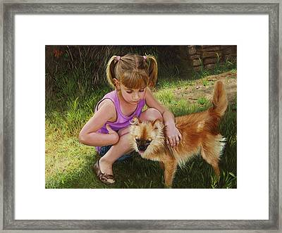 Puppy Love Framed Print by Glenn Beasley