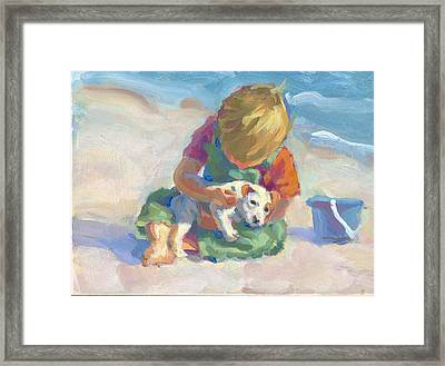 Puppy Love Framed Print by Lucelle Raad
