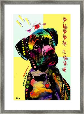Puppy Love Framed Print by Mark Ashkenazi