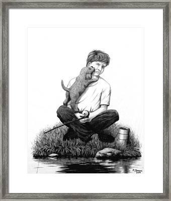 Puppy Love Framed Print by Roger Jansen