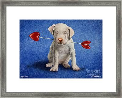 Puppy Lover... Framed Print