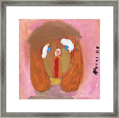 Puppy Framed Print by Artists With Autism Inc