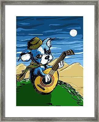 Puppy Serenade Framed Print by Devin Hermanson