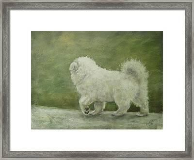 Puppy Struttin' Framed Print by Elizabeth Ellis