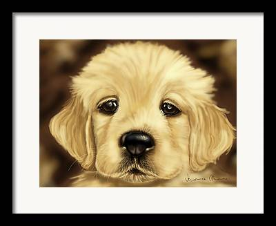 Dog Close-up Paintings Framed Prints