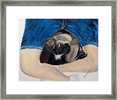 Puppy Warmth Framed Print