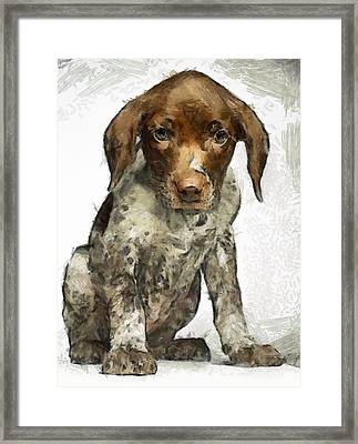 Framed Print featuring the painting Pupy by Georgi Dimitrov