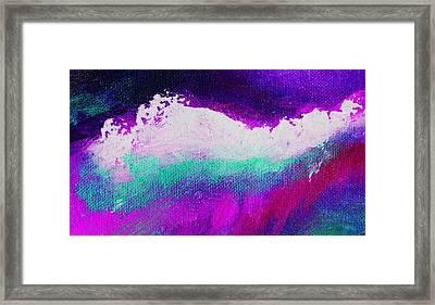 Pura Aqua Green Pink Framed Print by L J Smith