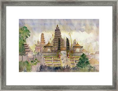 Pura Besakih Bali Framed Print